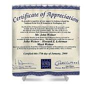 Certificate Of Appreciation Shower Curtain