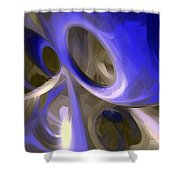 Cerulean Abstract Shower Curtain