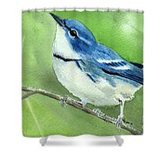 Cerulean Warbler Shower Curtain