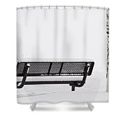 Cesar Melai Love In The Snow  Shower Curtain