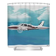 Cessna 310 Twin Engine Shower Curtain