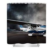 Cessna Ground Shower Curtain