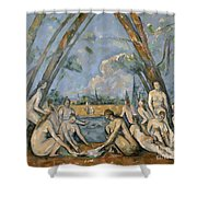 Cezanne Baigneuses 1905 Shower Curtain