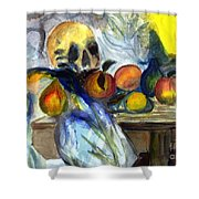 Cezanne Still Life With Skull Shower Curtain