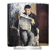 Cezanne's The Artist's Father Reading Le Evenement Shower Curtain
