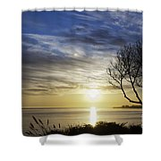 cf 519 A Sunset Over Monterey Bay Shower Curtain