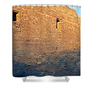 Chaco Canyon Indian Ruins, Sunset, New Shower Curtain