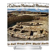 Chaco Culture National Historic Park Poster Shower Curtain