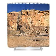 Chaco Culture Puebo Bonito Panorama Shower Curtain