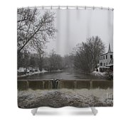 Chagrin Falls Xmas Shower Curtain