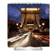 Chain Bridge Budapest  Shower Curtain