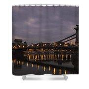 Chain Bridge Dawn Shower Curtain