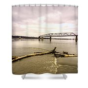 Chain Of Rocks Bridge  Shower Curtain