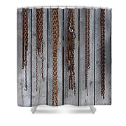 Chains On The Wall Shower Curtain
