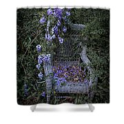 Chair And Flowers Shower Curtain