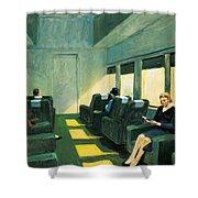 Chair Car Shower Curtain by Edward Hopper
