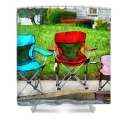 Chair Family Shower Curtain