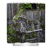 Chair In The Garden Shower Curtain