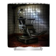 Chair Of Horror Shower Curtain