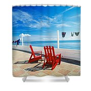 Chairs Cape Cod Ma Shower Curtain