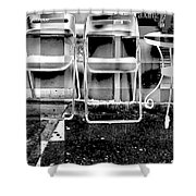 Chairs - New York City Street Scene Shower Curtain