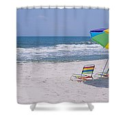 Chairs On The Beach, Gulf Of Mexico Shower Curtain