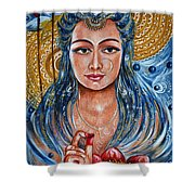 Chakra - Lotus Shower Curtain
