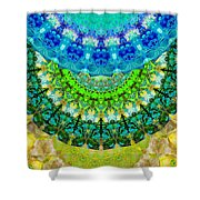 Chakra Mandala Healing Art By Sharon Cummings Shower Curtain