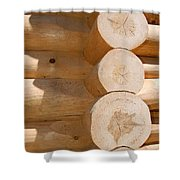 Chalet Logs Shower Curtain