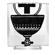 Chalice And Cross Shower Curtain