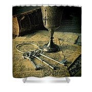 Chalice And Keys Shower Curtain