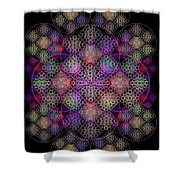 Chalice Cell Rings On Black Dk29 Shower Curtain