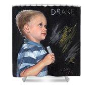Chalk Talk - Mom Loves U Shower Curtain