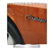 Challenger Emblem Shower Curtain