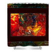 Challenges And Moments In Time Abstract Healing Art Shower Curtain