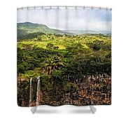 Chamarel Waterfall. Mauritius Shower Curtain