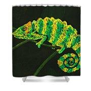 Chameleon Shower Curtain by Anastasiya Malakhova
