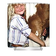 Champ And Peanut Shower Curtain