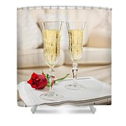 Champagne And Rose Shower Curtain