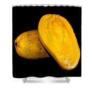 Champagne Ataulfo Mango Closeup Isolated  Shower Curtain