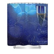 Champagne Blue  Shower Curtain