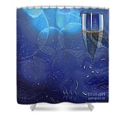 Champagne Blue  Shower Curtain by Liane Wright