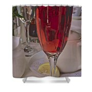 Champagne Brunch Shower Curtain