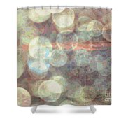 Champagne Bubbles And Sunset Shower Curtain