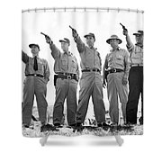 Champion Police Shooters Shower Curtain