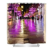 Champs Elysees In Pink Shower Curtain