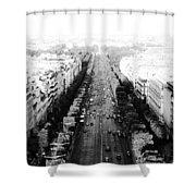 Champs Elysees - Paris Shower Curtain