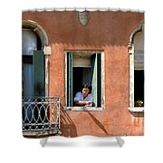 Chance Meeting In Venice Shower Curtain