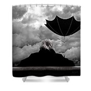 Chance Of Rain   Broken Umbrella Shower Curtain