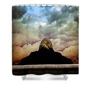 Chance Of Rain First Panel  No Umbrella Shower Curtain